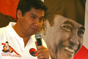 Ketua DPP Taruna Merah Putih Maruara Sirait (Berita Foto Jakarta | Aljon Ali Sagara)